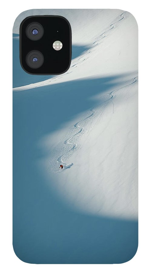 Scenics IPhone 12 Case featuring the photograph Ski Guide At Work by Topher Donahue