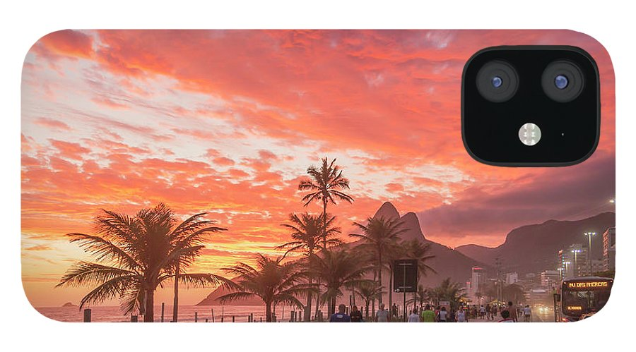 Majestic IPhone 12 Case featuring the photograph Sunset Over Ipanema Beach by Buena Vista Images