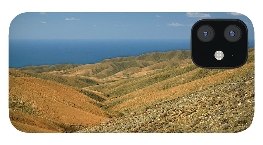 Scenics iPhone 12 Case featuring the photograph The Barren Hills Of Western by Roel Meijer