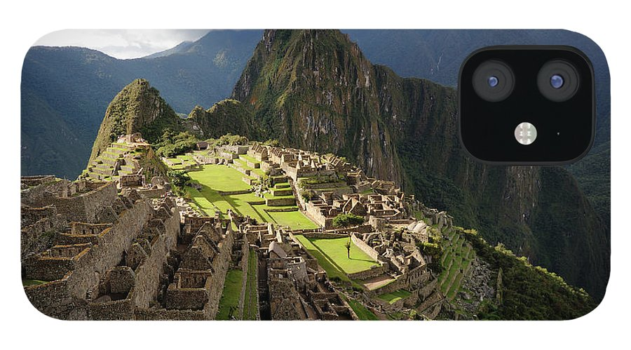Disbelief IPhone 12 Case featuring the photograph The Lost Inca City Of Machu Picchu by Elmvilla