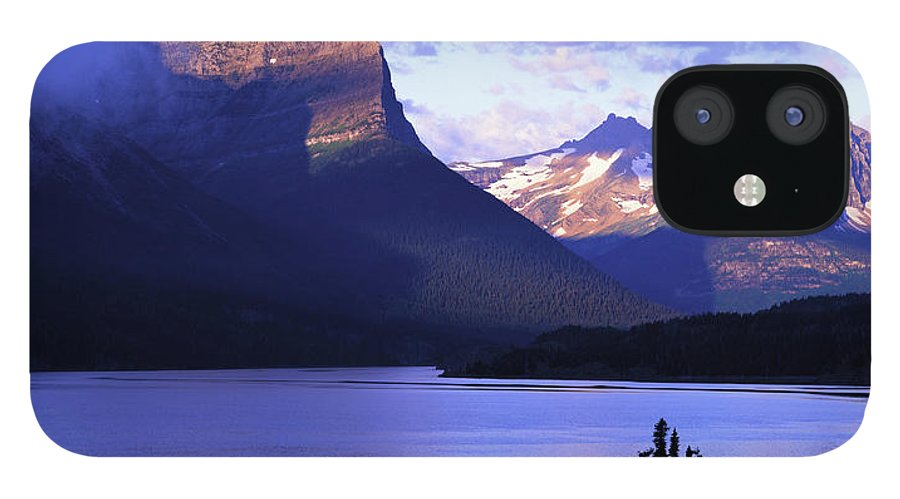 Scenics IPhone 12 Case featuring the photograph Usa, Montana, Glacier Np, Mountains by Paul Souders