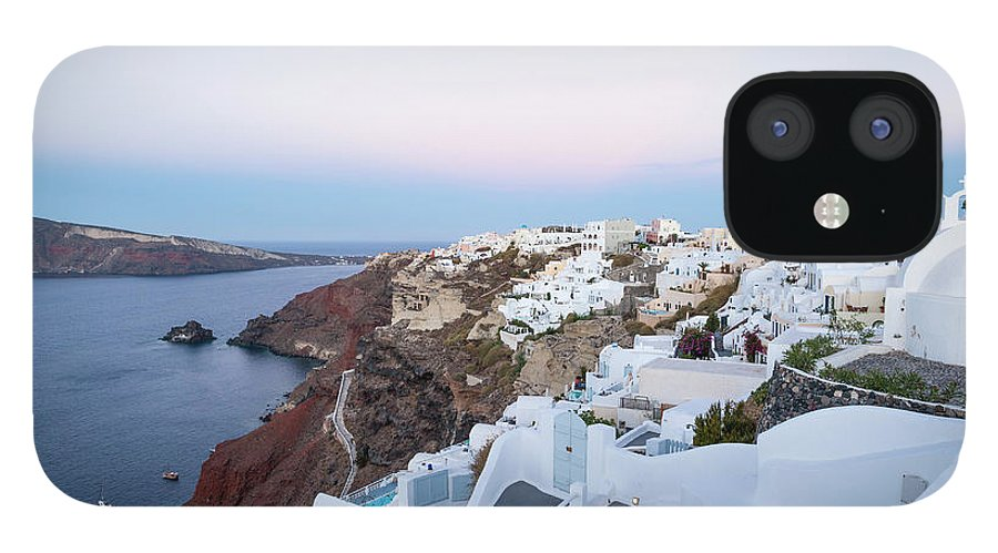 Tranquility IPhone 12 Case featuring the photograph Santorini Greece by Neil Emmerson