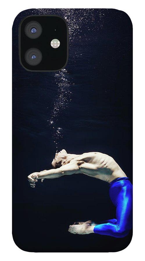 Ballet Dancer IPhone 12 Case featuring the photograph Ballet Dancer Underwater by Henrik Sorensen