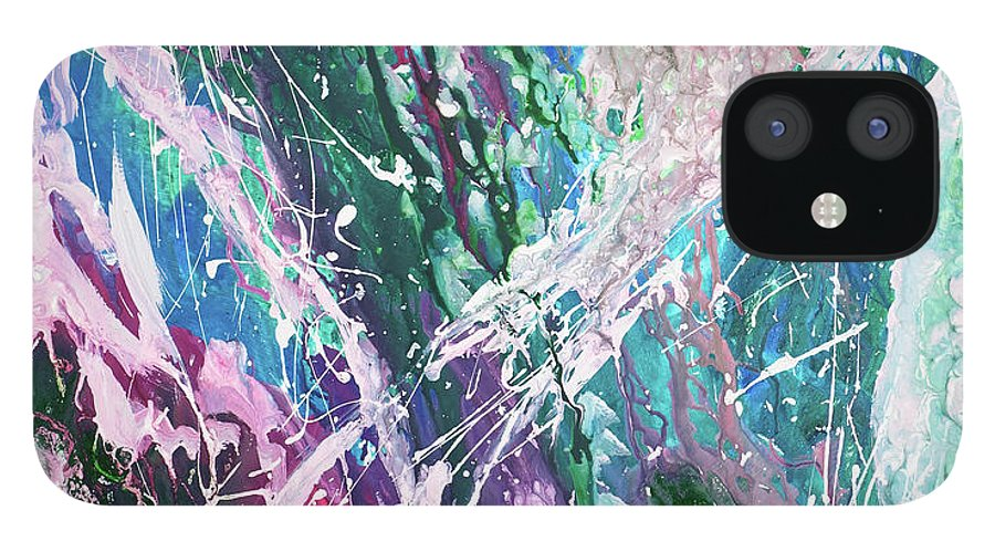 Art IPhone 12 Case featuring the digital art Abstract Background by Balticboy
