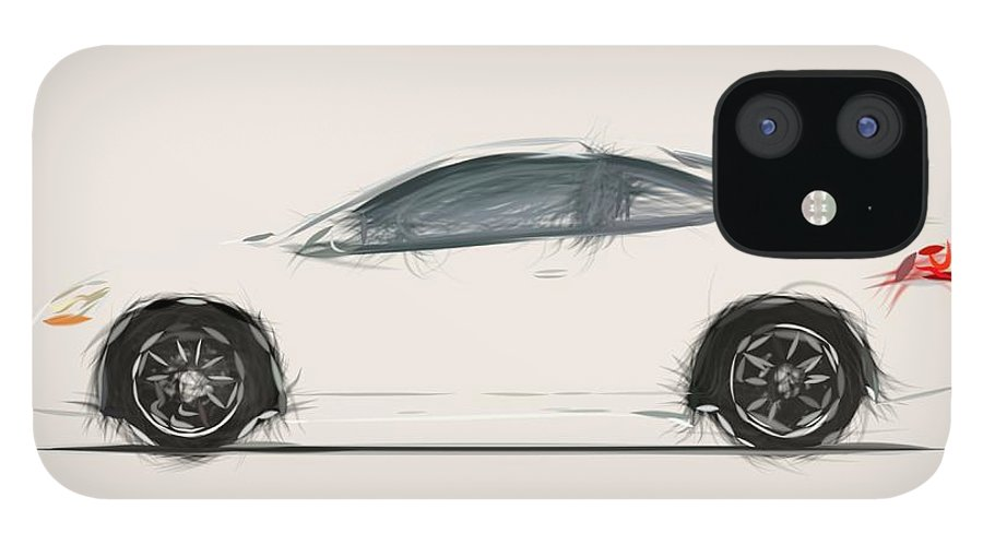 Acura RSX A Spec Draw IPhone 12 Case