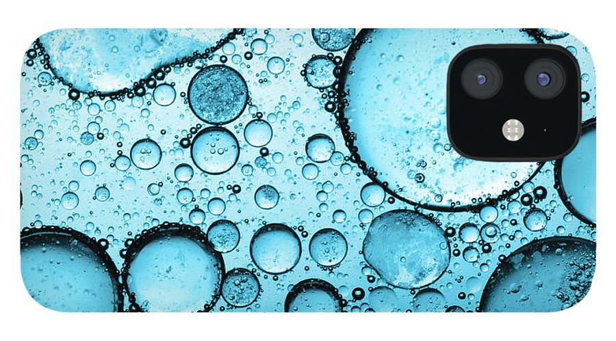 Natural Gas IPhone 12 Case featuring the photograph Bubbles Abstract by Subman