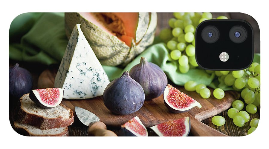 Large Group Of Objects IPhone 12 Case featuring the photograph Cheese Board by Verdina Anna