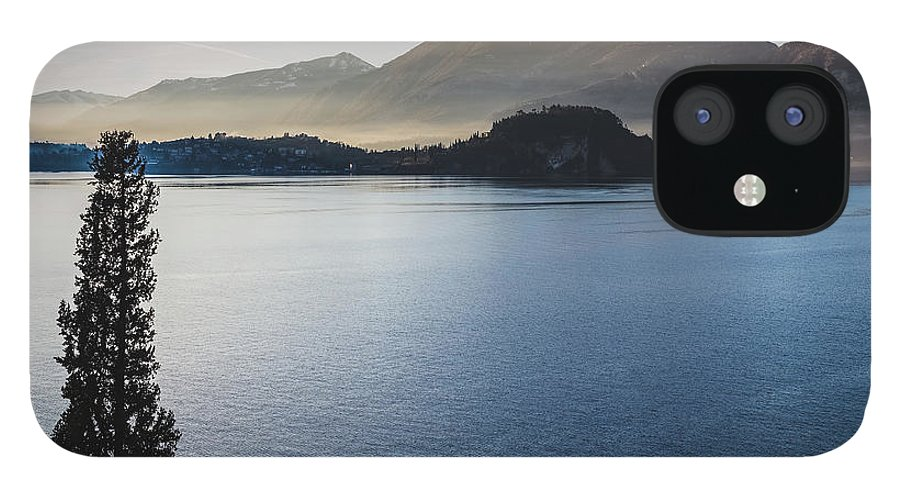 Scenics IPhone 12 Case featuring the photograph Como District Lake by Deimagine