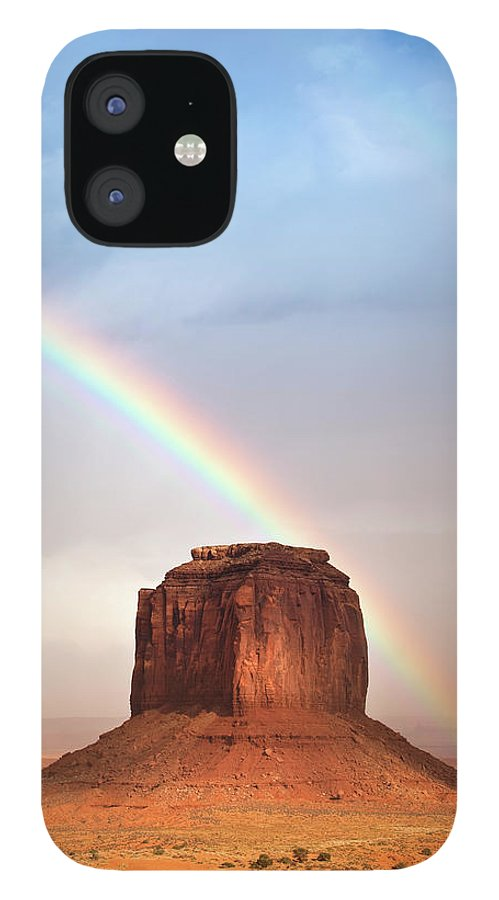 Geology IPhone 12 Case featuring the photograph Monument Valley Tribal Park by Pgiam