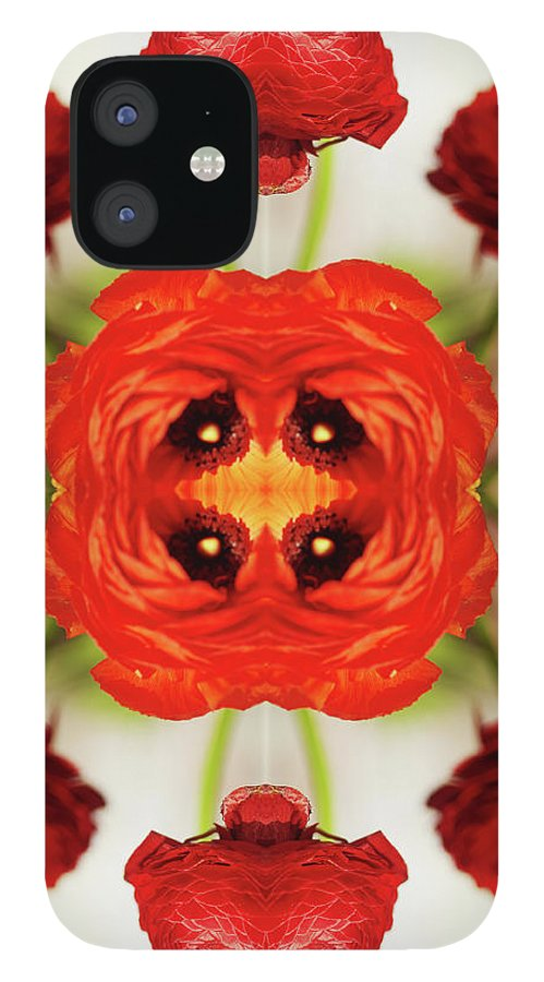 Tranquility IPhone 12 Case featuring the photograph Ranunculus Flower by Silvia Otte