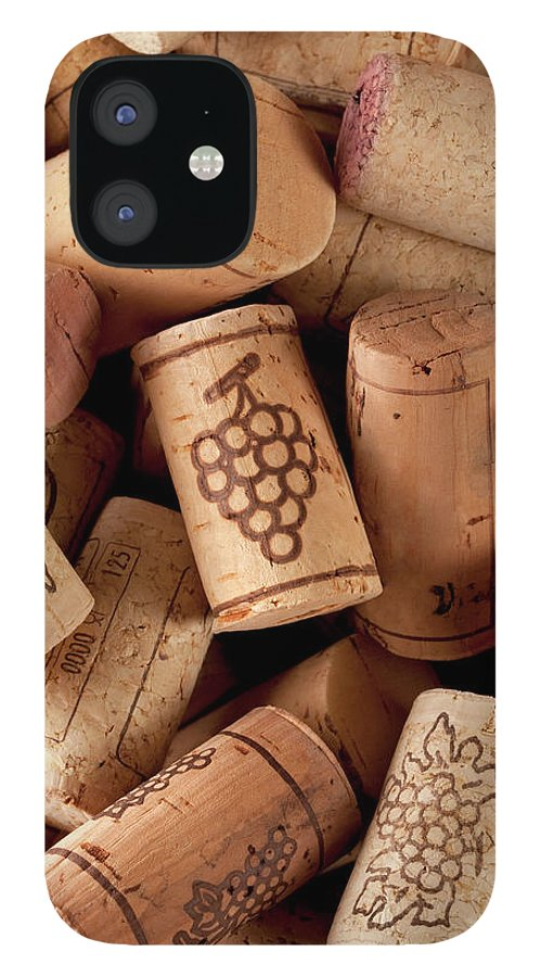 Alcohol IPhone 12 Case featuring the photograph Wine Corks by Malerapaso