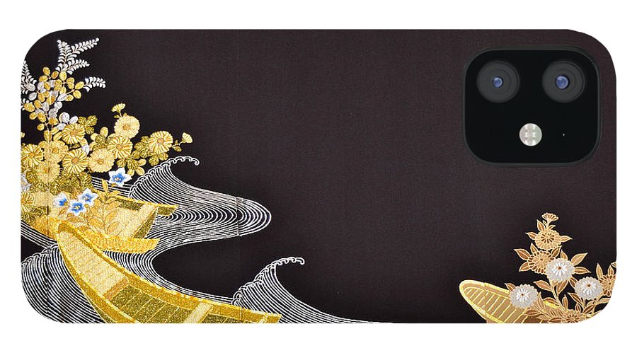 IPhone 12 Case featuring the digital art Spirit of Japan T61 by Miho Kanamori