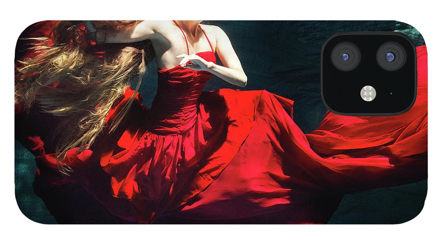 Ballet Dancer IPhone 12 Case featuring the photograph Female Dancer Performing Under Water by Henrik Sorensen