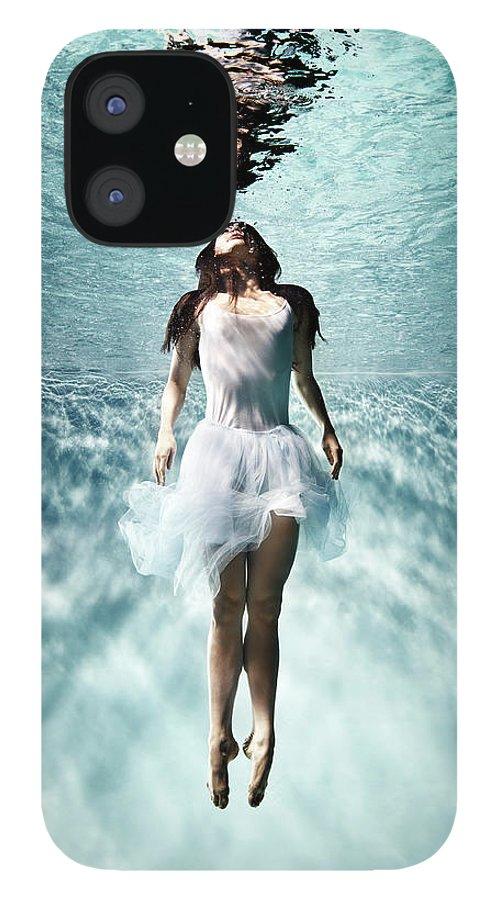 Ballet Dancer IPhone 12 Case featuring the photograph Underwater Ballet by Henrik Sorensen
