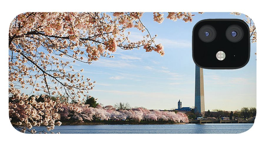 Tidal Basin iPhone 12 Case featuring the photograph Washington Dc Cherry Blossoms And by Ogphoto