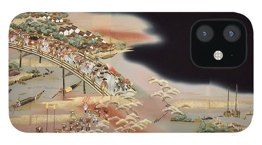 IPhone 12 Case featuring the digital art Spirit of Japan T84 by Miho Kanamori