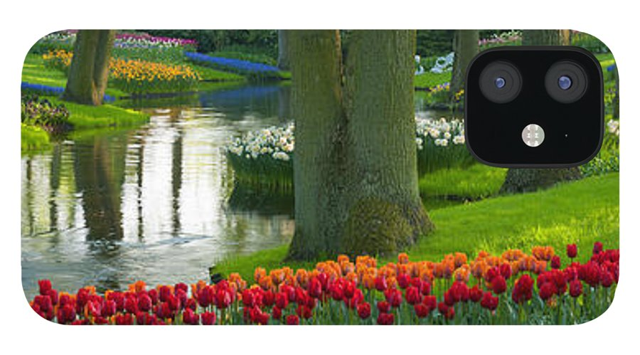 Scenics IPhone 12 Case featuring the photograph Spring Flowers In A Park by Jacobh