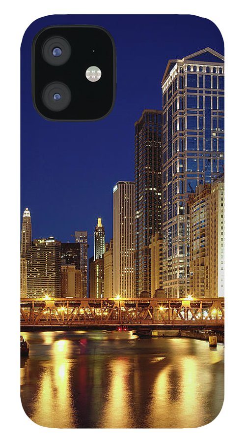Chicago River IPhone 12 Case featuring the photograph Chicago, Il by Adam Jones