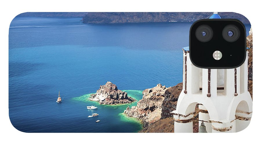 Greek Culture IPhone 12 Case featuring the photograph Santorini, Greece by Traveler1116