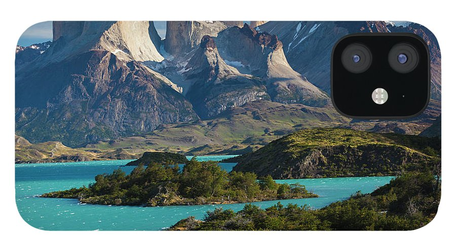 Scenics IPhone 12 Case featuring the photograph Chile, Torres Del Paine National Park by Walter Bibikow