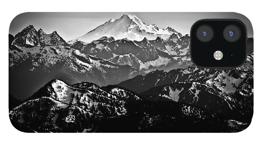 Tranquility IPhone 12 Case featuring the photograph Mount Baker by Christopher Kimmel
