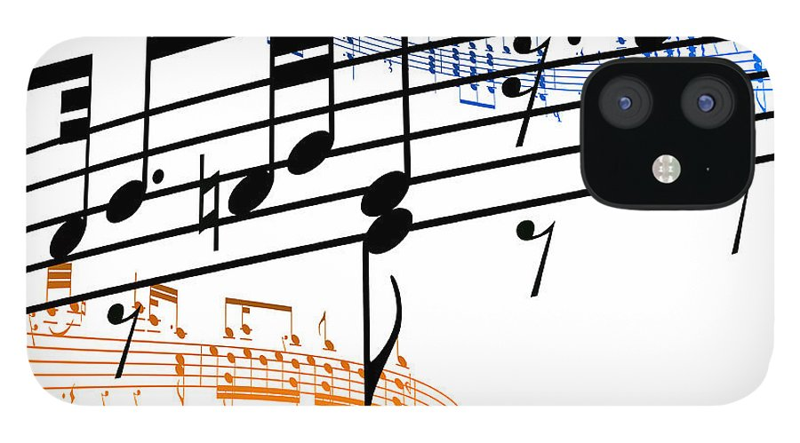 Sheet Music IPhone 12 Case featuring the digital art A Stave Of Music by Ian Mckinnell