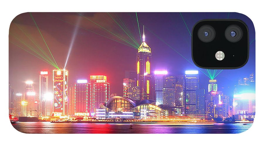 Tranquility IPhone 12 Case featuring the photograph A Symphony Of Lights by Liu Wai Yip Even