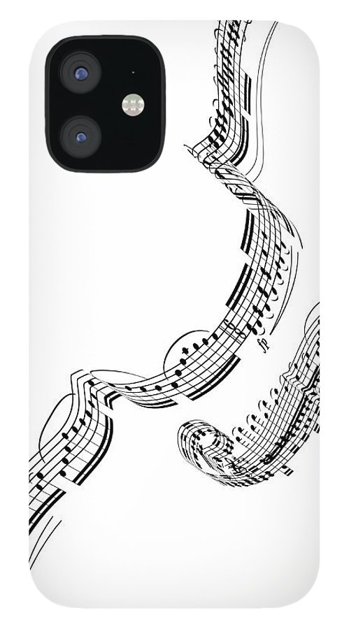 Sheet Music IPhone 12 Case featuring the digital art A Violin Made From Music Notes by Ian Mckinnell