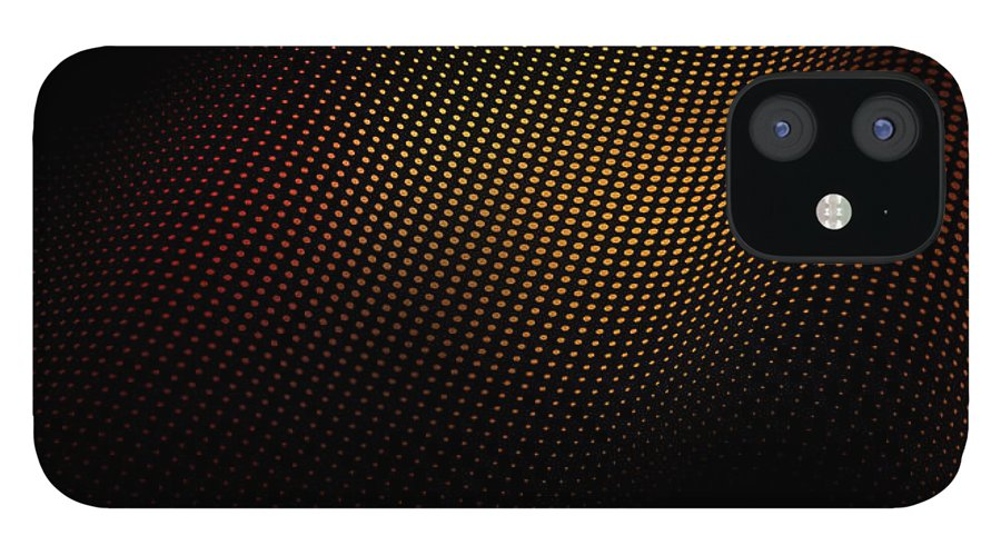 Shadow IPhone 12 Case featuring the digital art A Wave Pattern Of Dots Over Shadow by Ralf Hiemisch