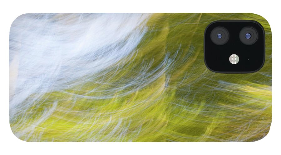Full Frame IPhone 12 Case featuring the photograph Abstract Close Up Of Trees by Background Abstracts