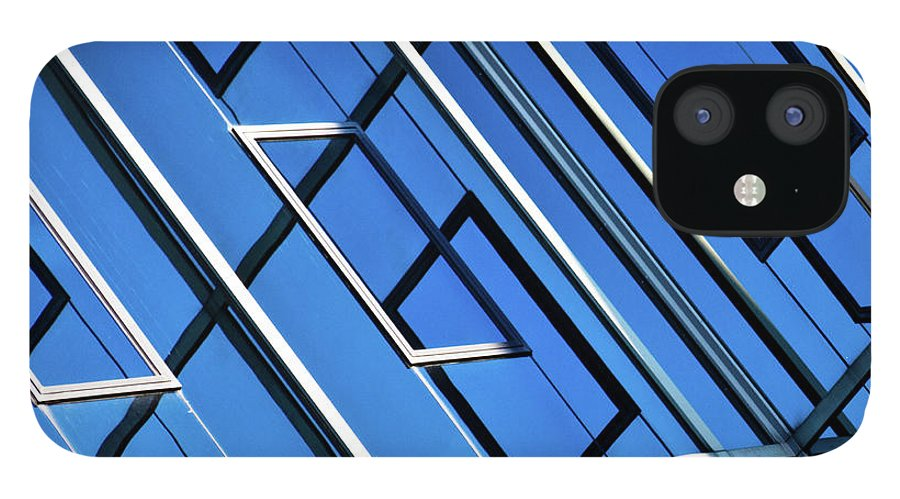 Outdoors iPhone 12 Case featuring the photograph Abstract Geometric Reflection by By Fabrice Geslin