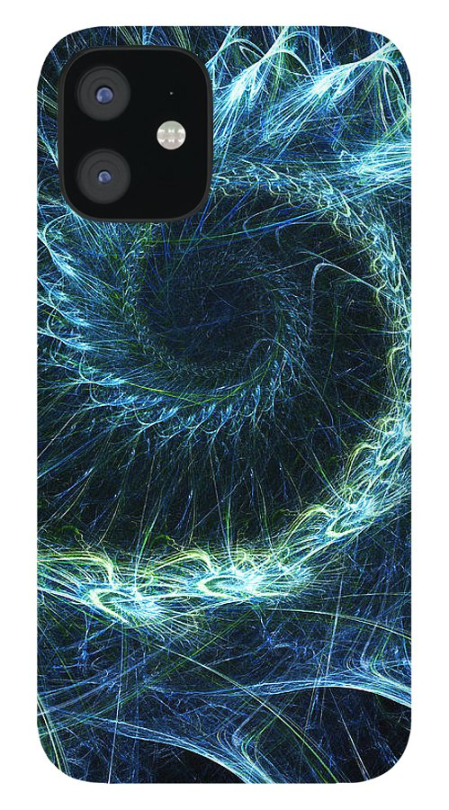 Curve IPhone 12 Case featuring the photograph Abstract Swirl Pattern by Duncan1890