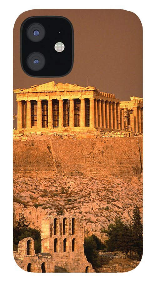 Greek Culture IPhone 12 Case featuring the photograph Acropolis And Parthenon From Filopappou by Lonely Planet