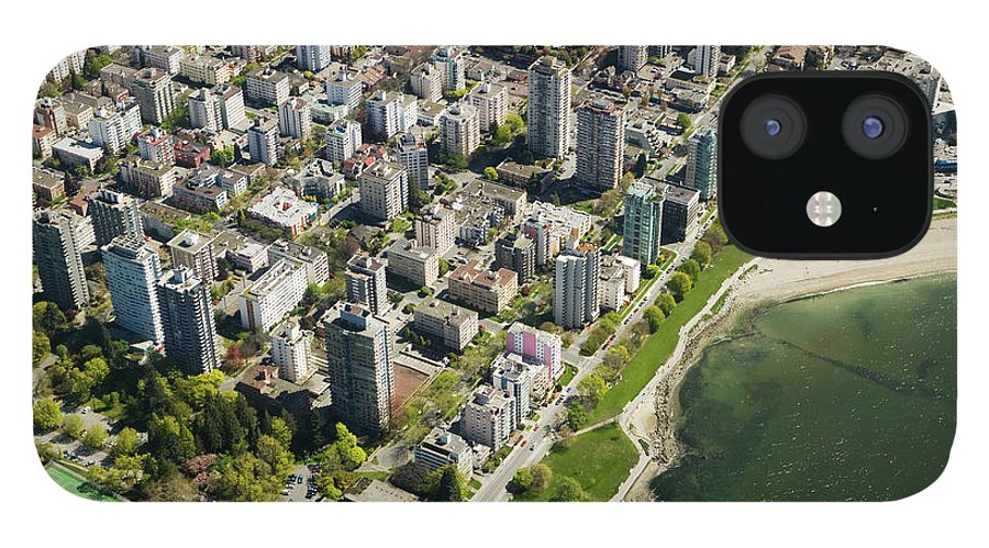 Outdoors IPhone 12 Case featuring the photograph Aerial Of West End, Vancouver by Lucidio Studio, Inc.