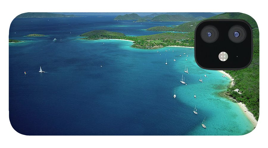 Sailboat IPhone 12 Case featuring the photograph Aerial View Of Shoreline by Don Hebert