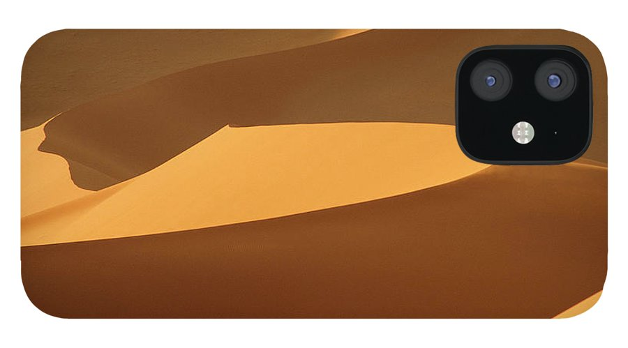 Shadow IPhone 12 Case featuring the photograph Africa, Namibia, Sand Dunes, Full Frame by Peter Adams