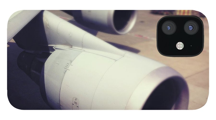 Transfer Print iPhone 12 Case featuring the photograph Aircraft Engines by Ixefra