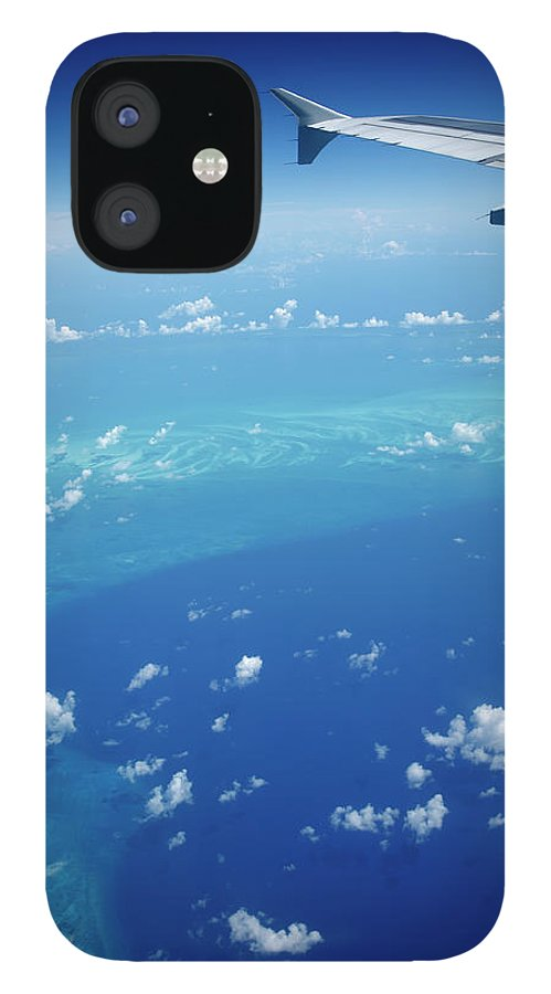 Scenics iPhone 12 Case featuring the photograph Airplane View Of The Caribbean by Cdwheatley