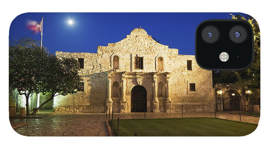 War IPhone 12 Case featuring the photograph Alamo Mission, San Antonio, A Famous by Yinyang