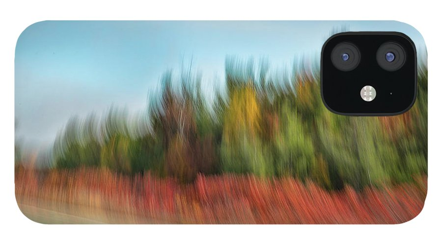 Abstracts iPhone 12 Case featuring the photograph Along Highway 401 ON by Marilyn Cornwell