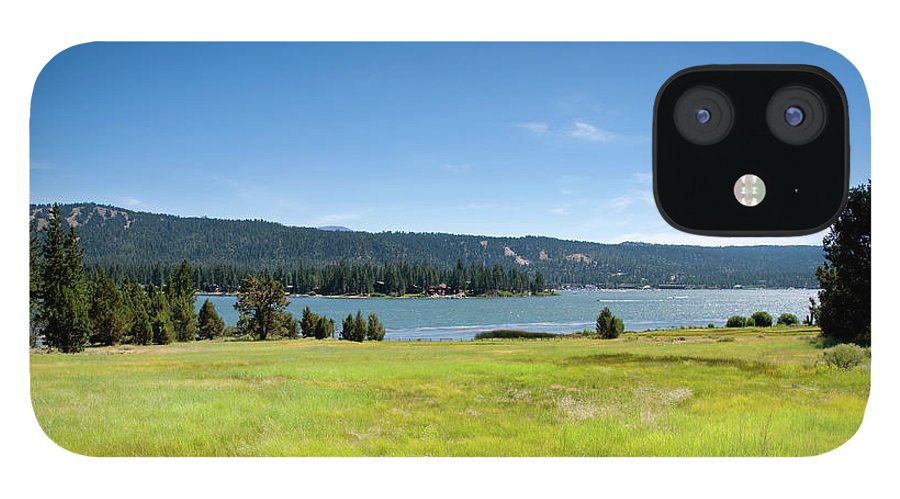 Scenics IPhone 12 Case featuring the photograph Alpine Mountian Lake And Meadow by Alynst