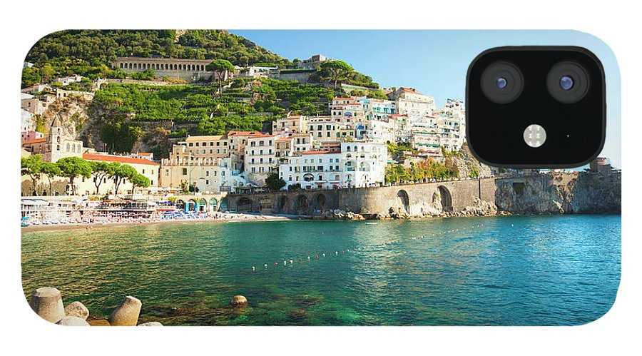 Tyrrhenian Sea IPhone 12 Case featuring the photograph Amalfi Coast, Italy by Brzozowska