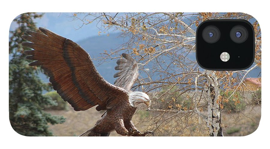 Eagle IPhone 12 Case featuring the photograph American Eagle in Autumn by Colleen Cornelius