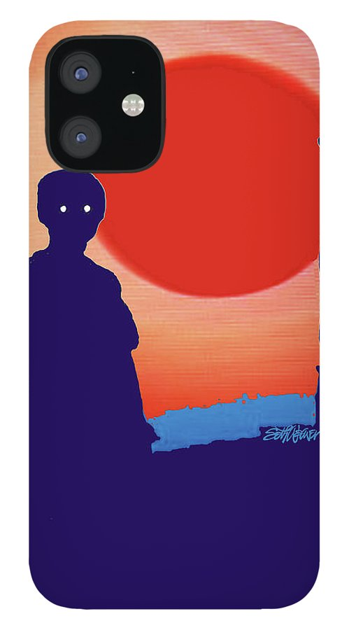American Gothic-2018 iPhone 12 Case featuring the mixed media American Gothic-2018 by Seth Weaver