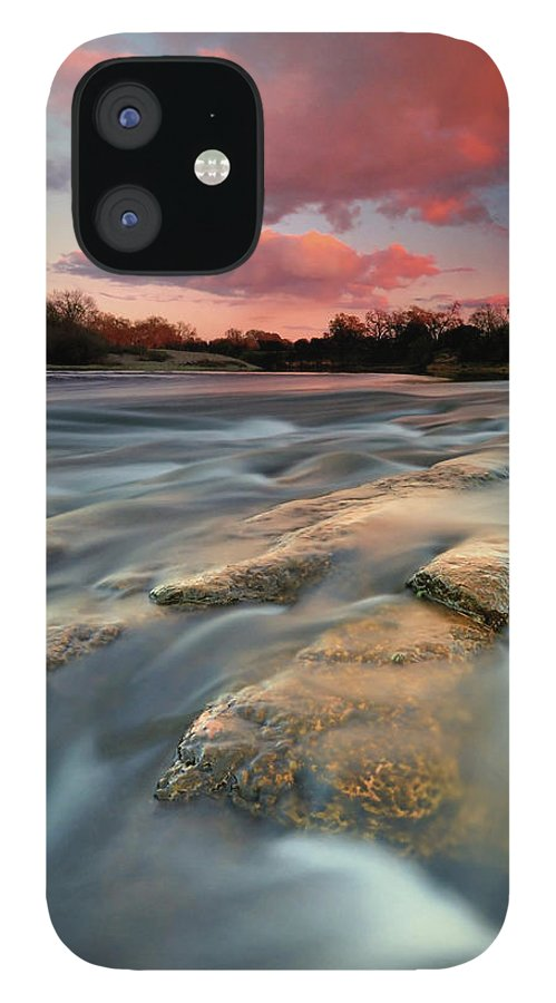 Scenics IPhone 12 Case featuring the photograph American River Parkway At Sunset by David Kiene