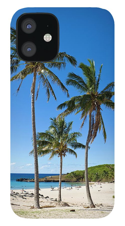 Scenics IPhone 12 Case featuring the photograph Anakena Beach, The Islands White Sand by Gavin Hellier / Robertharding