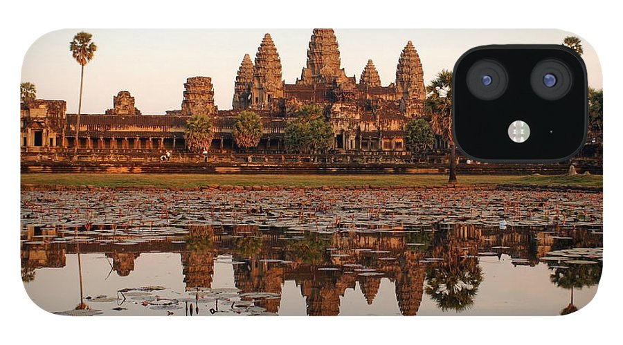 Tranquility IPhone 12 Case featuring the photograph Angkor Wat - Siem Reap - Cambodia by By Lionel Arnould