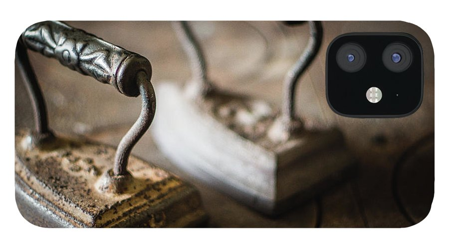 Two Objects IPhone 12 Case featuring the photograph Antique Irons by Jimss