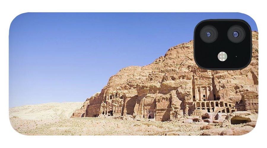 Scenics IPhone 12 Case featuring the photograph Archaeological Remains Of Petra by Gallo Images