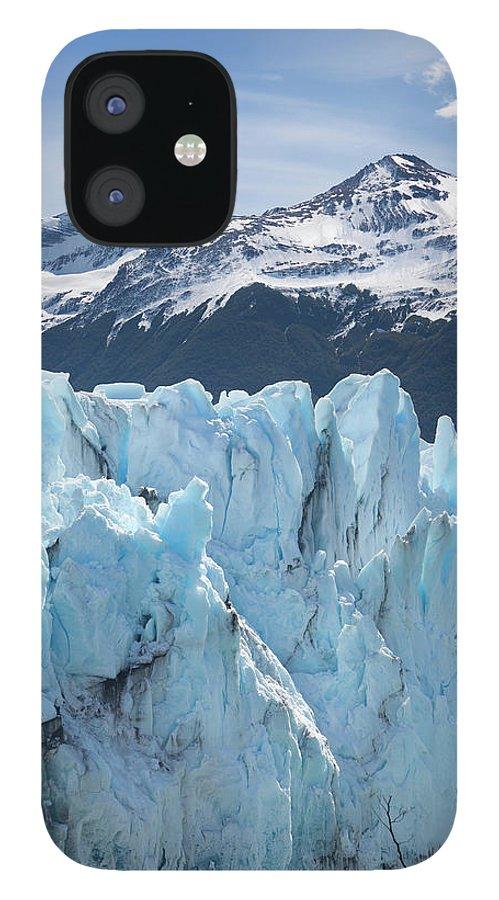 Scenics IPhone 12 Case featuring the photograph Argentina Patagonia Glacier Perito by Grafissimo